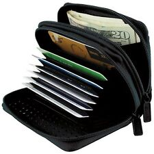 Womens Wallets RFID Blocking Secure Scanners  Safe Credit ID Card Leather Black