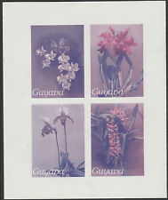 Guyana (1659) - 1985 Orchids IMPERF SHEETLET TWO-COLOUR PROOF  unmounted mint