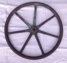 "ANTIQUE SOLID BRASS BOAT/ SHIP HELM HUGE 21"" STEERING WHEEL . NAVY SHIP ?"