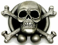 Skull Belt Buckle Totenkopf With Crossed Bones & Runes Official Branded Product