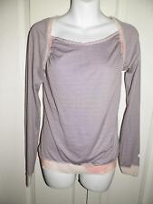 LULULEMON ATHLETICA Silky Stripe Multi Print Yoga Work Out Shirt Size 6