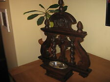 EARLY 20th.c COUNTRY FRENCH OAK CHURCH CANDLE RACK,HOLDER,SHRINE,ALTAR.SUPERB.