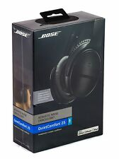 Bose QC25 Noise Cancelling Wired Headphones For Apple Devices - Triple Black