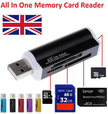 High Speed All in 1 USB Memory Card Reader Adapter For Micro SD MMC SDHC TF M2
