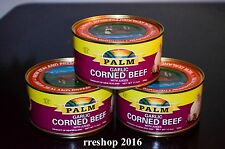 PALM GARLIC CORNED BEEF WITH JUICES 11.5 oz/326g Product of New Zealand LOT OF 3