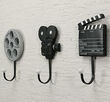 Resin Clothes Hat Bag Hanger Hook Wall Mounted Film Movie Camera Clapperboard