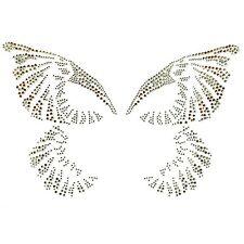 Hand-made Rhinestone Transfer Hot fix Motif Fashion Design Butterfly Waltz Line