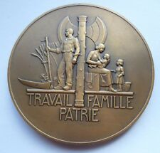 1941 MARSHAL PHILIPPE PETAIN FRENCH ART DECO MEDAL by PIERRE TURIN