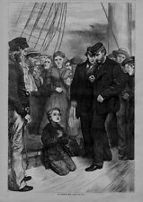 YOUNG RAGGED HEROIC STOWAWAY BOY FROM LIVERPOOL TO NEW YORK 1869 STEAMER SAILOR