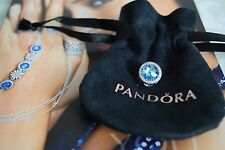 Pandora Radiant Hearts Charm, Sky Blue, Original, New, #791725NBS