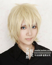 Axis Powers Hetalia England Short Blonde Cosplay Wig + Gift hairnet