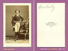 CDV DISDÉRI à PARIS : MONTAUBRY, CHANTEUR LYRIQUE, TÉNOR OPÉRA-COMIQUE,1865 -L41