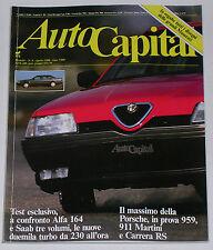 AUTOCAPITAL 4/1988 PORSCHE 959 – STANGUELLINI – DEUSENBERG – AUDI 90 QUATTRO 20V