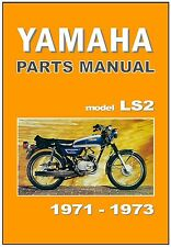 YAMAHA Parts Manual LS2 1971 and 1972 Replacement Spares Catalog List