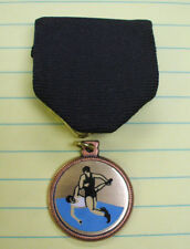 WRESTLING black medal trophy award pin