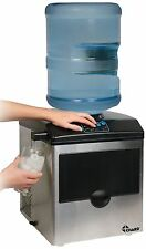 Chard Stainless Steel Ice Maker With Water Dispenser - 40 Lb Per Day - Stainless