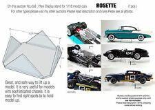 Display Stand /Support for 1:18 model cars  - for AutoArt, Exoto, CMC  *ROSETTE*