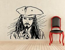Captain Jack Sparrow Wall Decal Pirate Movie Vinyl Sticker Art Decor Mural 162z