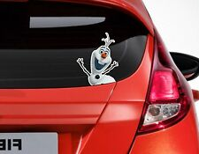 X1 Peeping Frozen Olaf Funny Car or Van Window sticker