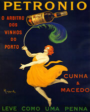 PETRONIO PORT WINE LIGHT AS FEATHER CAPPIELLO 8X10 VINTAGE POSTER REPRO FREE S/H