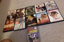 Sports Movie Lot of 11 DVD's with 2 still sealed and 1 VHS sealed G PG PG-13 R