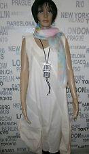 KEKOO: Lagenlook Kleid Tunika A-Form Baumw. pastell vanille Gr. 3 48 - 50 F/S %%
