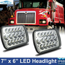 2pcs LED Headlights For International Truck 3800 4700 4800 4900 8100 8200 95 -04
