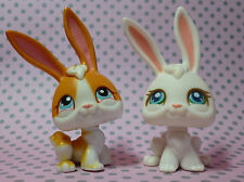 Littlest Pet Shop LPS #3 BIANCO SEDUTO BUNNY RABBIT & #75 Tan & White Bunny