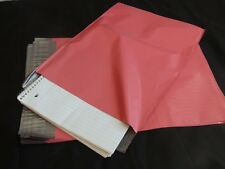 100 10x13 PINK COLORED POLY MAILERS ENVELOPES SHIPPING BAGS PLASTIC SELF SEAL