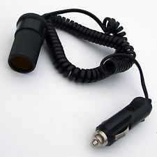 CIGARETTE 12V EXTENSION WITH COILED LEAD PLUG & SOCKET CAR BOAT MOTORHOME