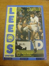 24/01/1984 Leeds United v Oldham Athletic  . Item appears to be in good conditio