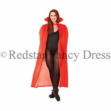 "LONG RED 56"" DRACULA VAMPIRE CAPE HALLOWEEN FANCY DRESS COSTUME"