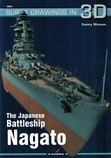 The Japanese Battleship NAGATO - Super Drawings in 3D - Kagero ENGLISH *N*E*W*