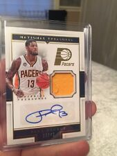 2015-16 Panini National Treasures Paul George Material Treasures Auto Jersey /46