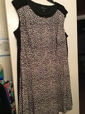 Womens Dress NWOT Connected Apparel  Size 22 Animal Print