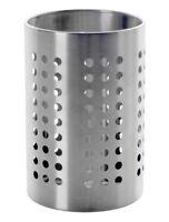 Ikea Ordning Kitchen Utensil Holder Stainless Steel 18cm Tall, BNWT