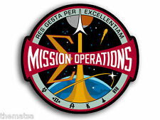 "4""  NASA MISSION OPERATIONS HELMET BUMPER EMBLEM DECAL STICKER MADE IN USA"