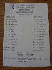 28/03/1988 Aston Villa Reserves v Derby County Reserves  (Single Sheet)