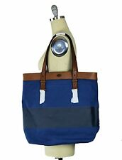 Fossil Estate CB Utility Bag Canvas/Genuine Leather Blue