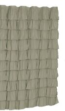 Ruffle Fabric Shower Curtain  Color GRAY