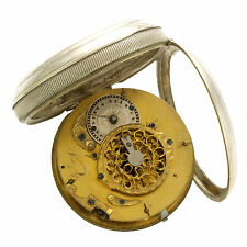 Antique Unsigned Swiss Verge Pocket Watch With Fancy Pierced Balance Cock CA1810