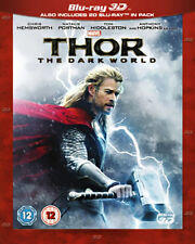 Thor - The Dark World (3D Blu-ray, 2-Disc Set) Chris Hemsworth Natalie Portman