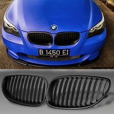 Front Black Sport Wide Kidney Grill Grilles For BMW E60 E61 M5 5 Series 03-09