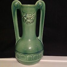 "Red Wing Vase #211 Light Green Crackle Glazed Ware 10"" Art Nouveau Style 1930s"