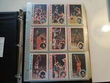 1978 79 TOPPS Basketball  Complete card Set of 132 cards EX to Mint Collection
