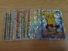 27 Shiny Hologram WotC Merlin Pokemon stickers 1999 Number 2 to 35