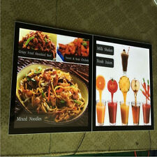 slim led light box for advertising display with menu board