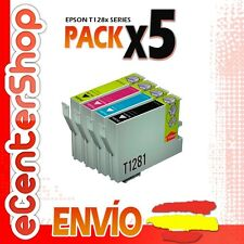 5 Cartuchos T1281 T1282 T1283 T1284 NON-OEM Epson Stylus SX130