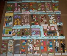 Lot #4 of 30 Sheets AMERICAN GREETINGS Creative Touch SCRAPBOOK Stickers ALL 3D