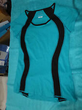 M&S COLLECTION FITNESS LADIES JADE & BLACK TOP IDEAL GYM, YOGA RUNNING SIZE 10